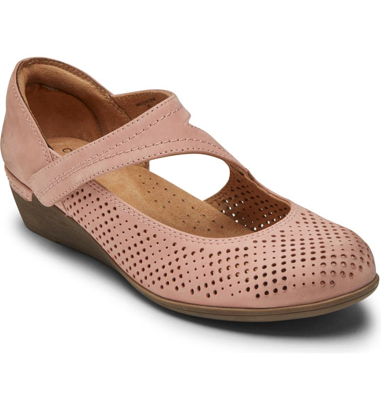 ROCKPORT COBB HILL Devyn Wedge Mary Jane, Main, color, LIGHT ROSE LEATHER