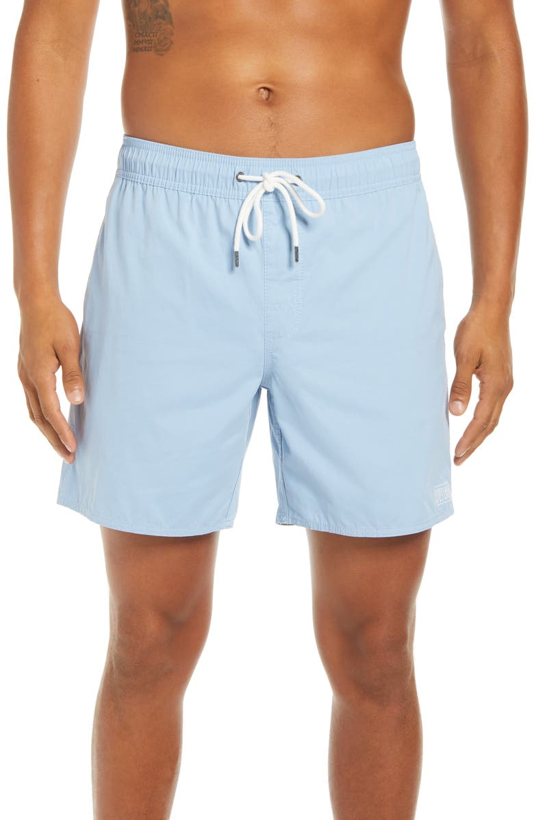 RVCA Opposites Solid Swim Trunks, Main, color, 468