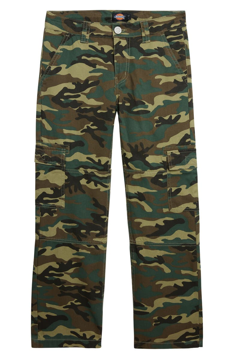 DICKIES Heritage Camo Cotton Twill Cargo Pants, Main, color, OLIVE CAMO