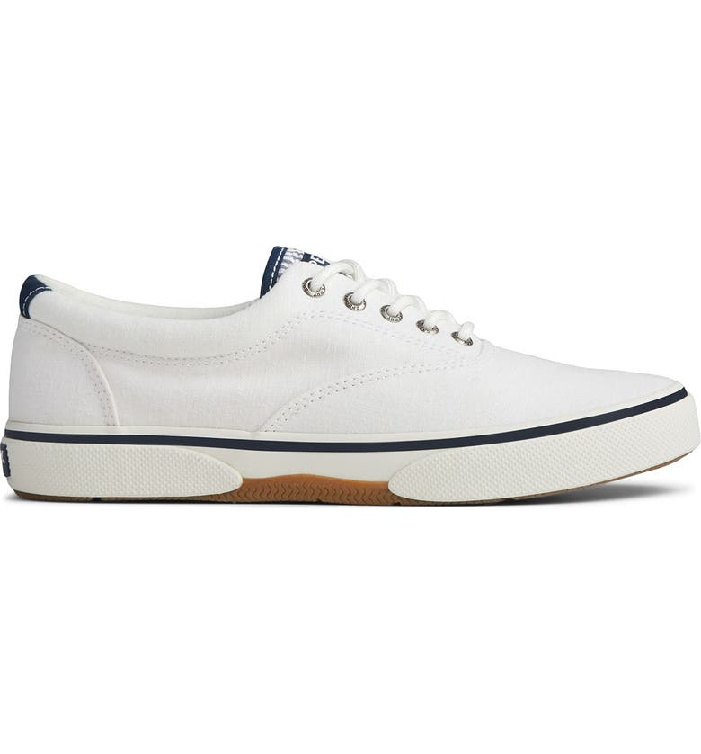 SPERRY Halyard CVO Lace-Up Sneaker, Main, color, WHITE