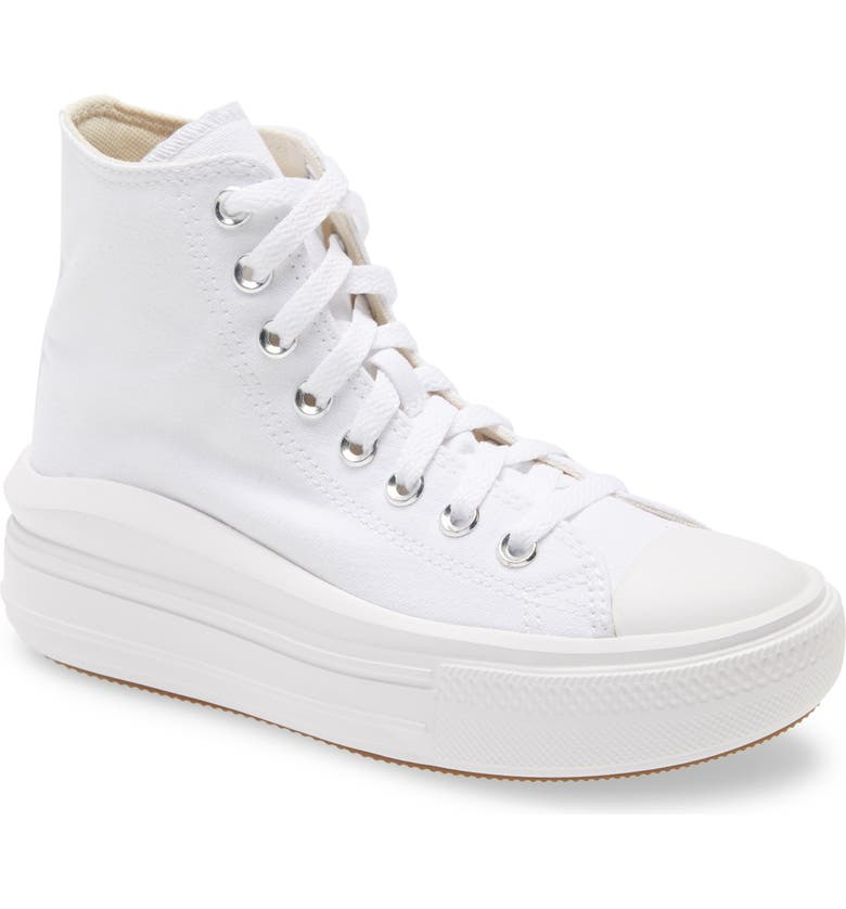 CONVERSE Chuck Taylor<sup>®</sup> All Star<sup>®</sup> Move High Top Platform Sneaker, Main, color, WHITE/ NATURAL IVORY/ BLACK