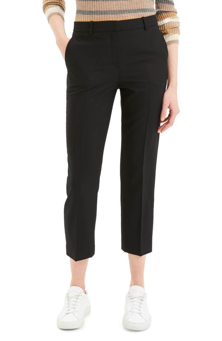 THEORY Crop Trousers, Main, color, 001