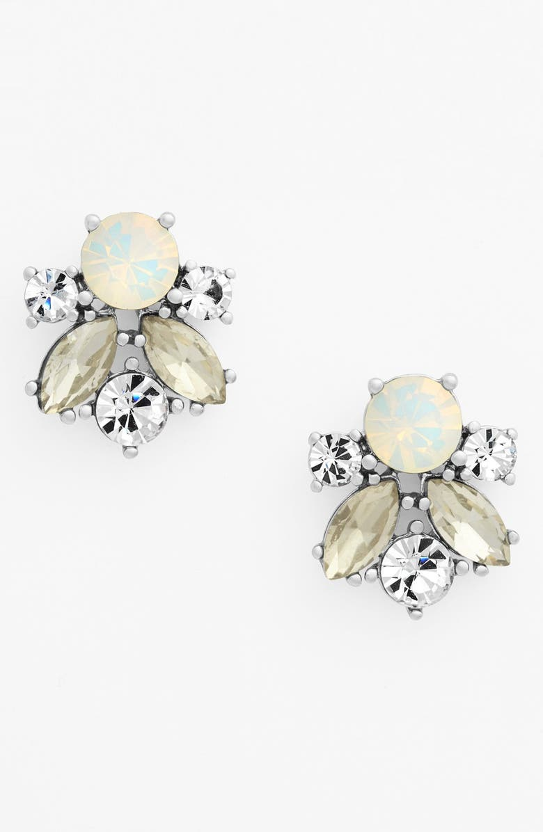 GIVENCHY Crystal Cluster Stud Earrings, Main, color, 040