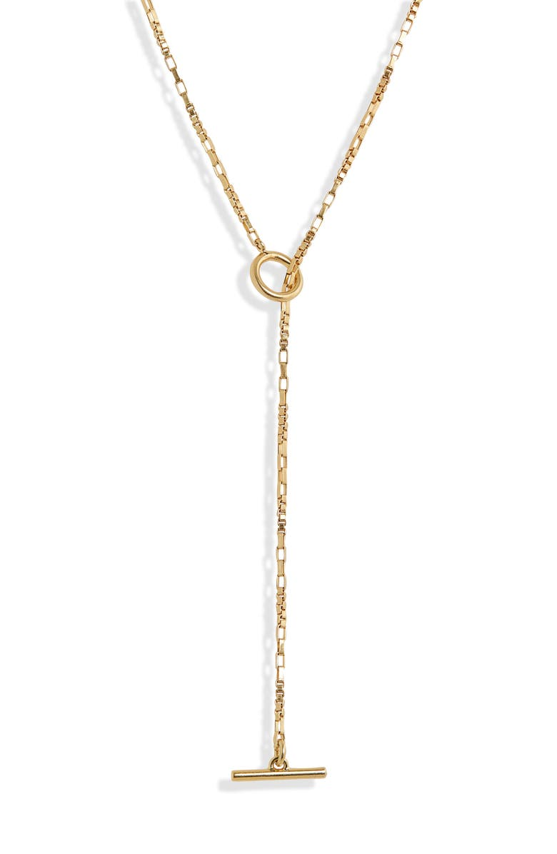 MADEWELL Dainty Toggle Chain Necklace, Main, color, VINTAGE GOLD