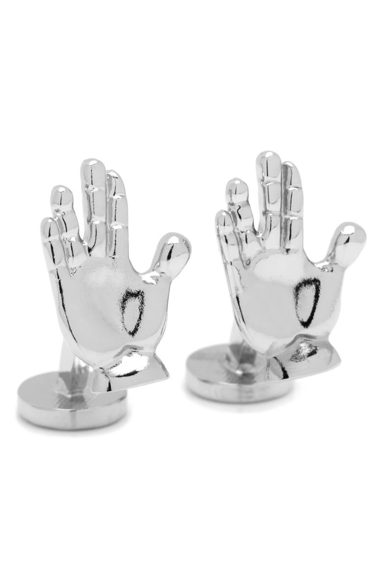 CUFFLINKS, INC. 'Star Trek' Live Long & Prosper Cuff Links, Main, color, Silver