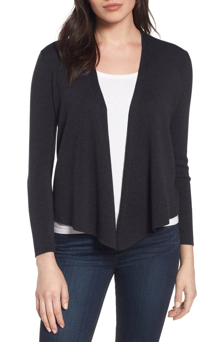 NIC+ZOE Four-Way Cardigan, Main, color, BLACK ONYX