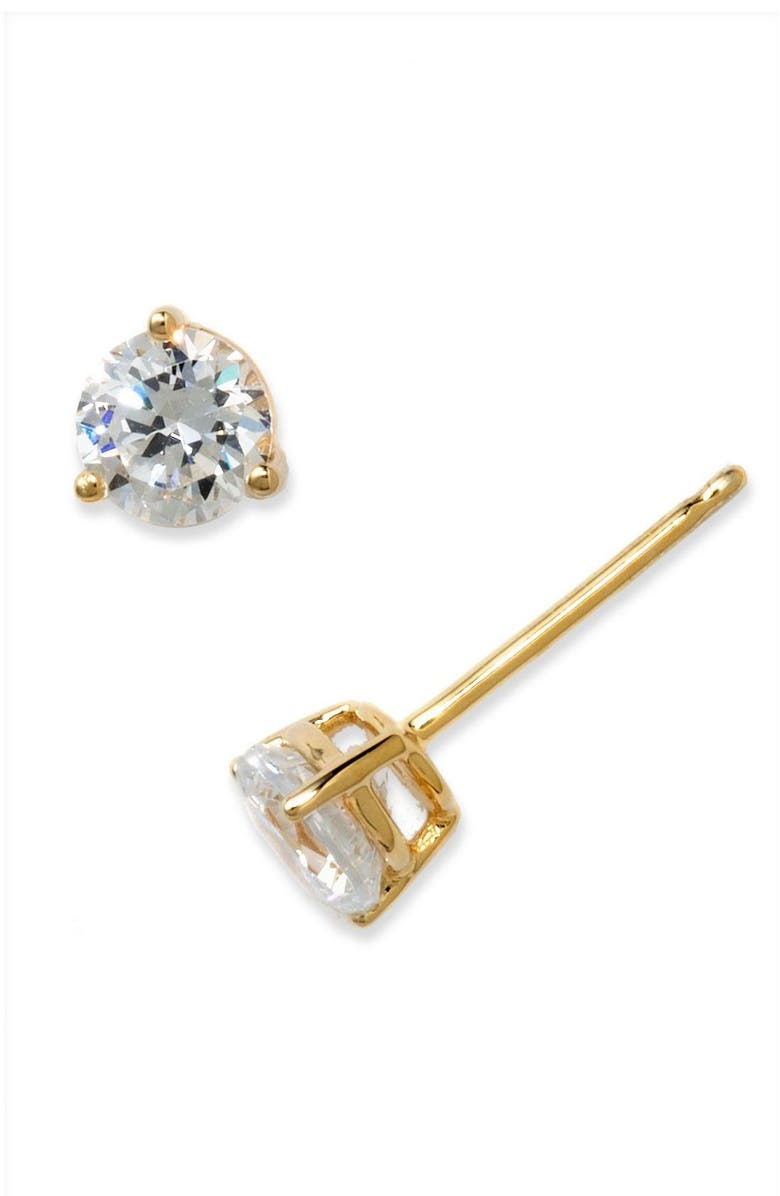 NORDSTROM 1ct tw Cubic Zirconia Earrings, Main, color, GOLD