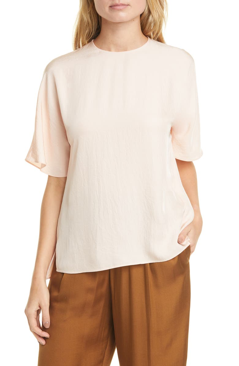 VINCE Crinkle Top, Main, color, 696