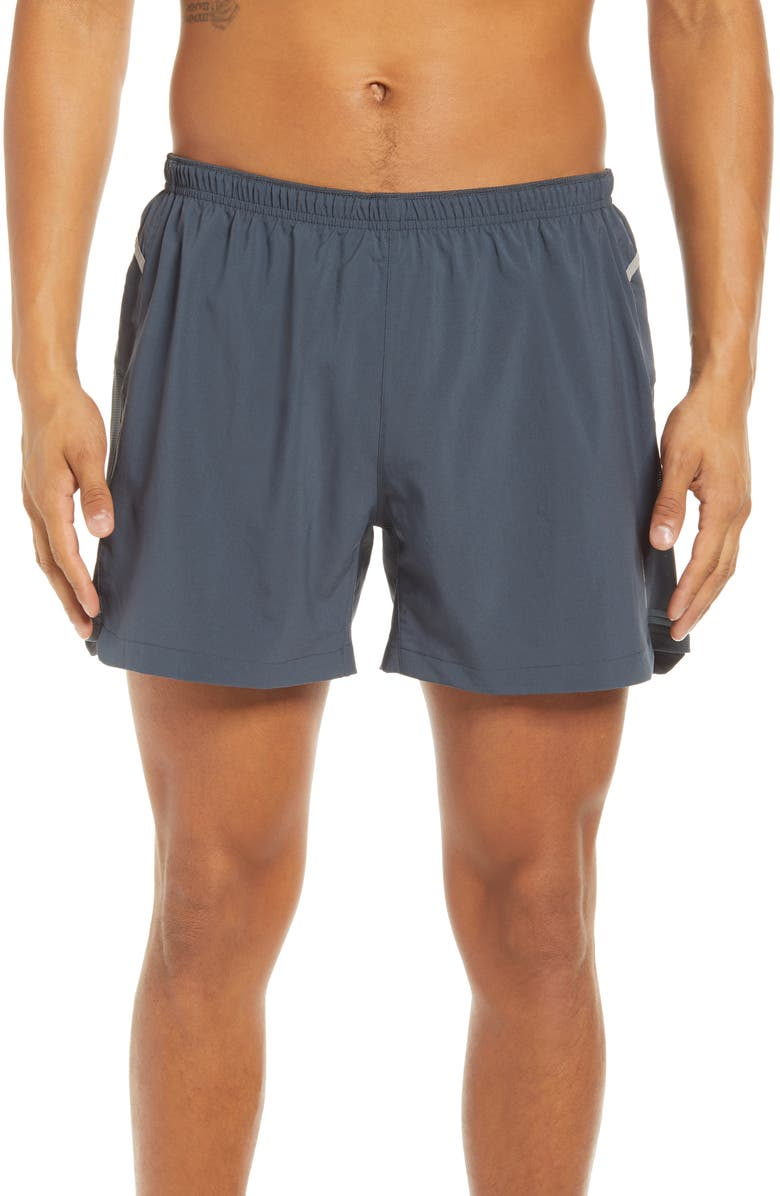 "BROOKS Men's 5"" Cargo Running Shorts, Main, color, ASPHALT"