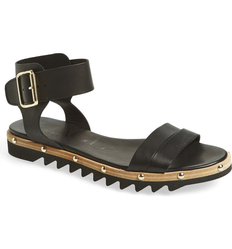 AGL Studded Leather Sandal, Main, color, 001