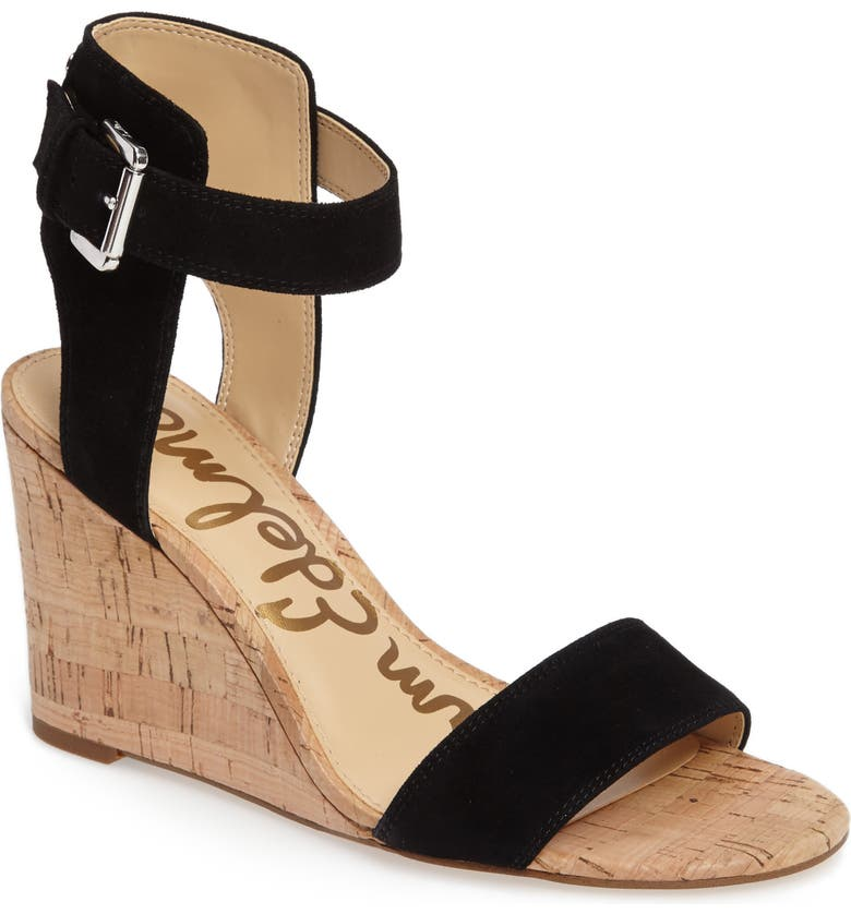 SAM EDELMAN Willow Strappy Wedge Sandal, Main, color, 001