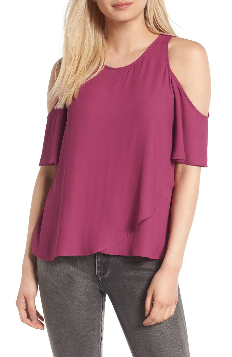 --- Cold Shoulder Top, Main, color, 930