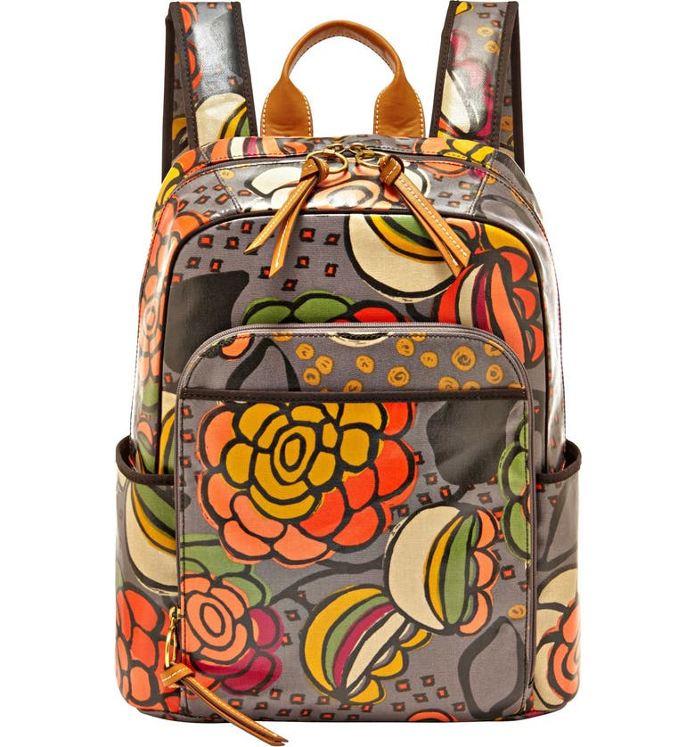 FOSSIL 'Key-Per' Print Coated Canvas Backpack, Main, color, 039