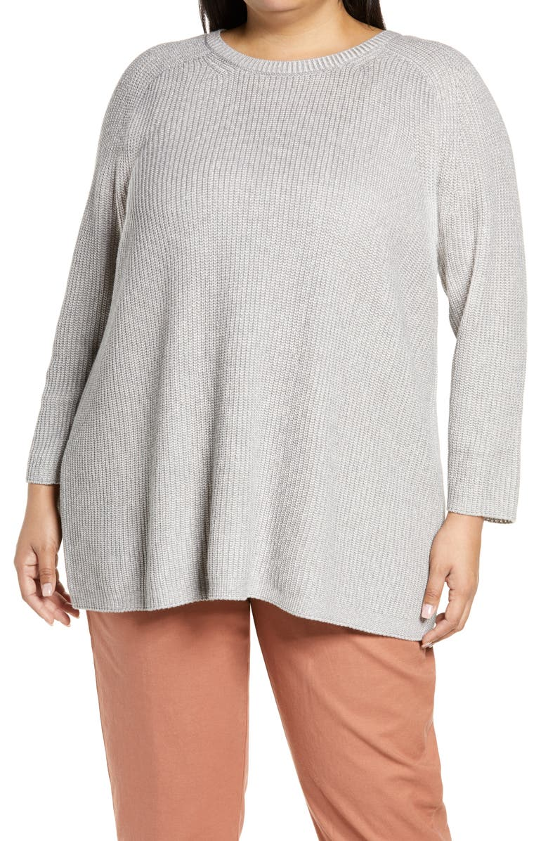 EILEEN FISHER Crewneck Sweater, Main, color, SMOKE