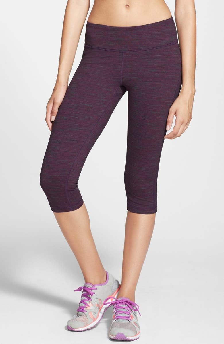 ZELLA 'Live In - Sonic' Space Dye Capris, Main, color, BERRY CORDIAL