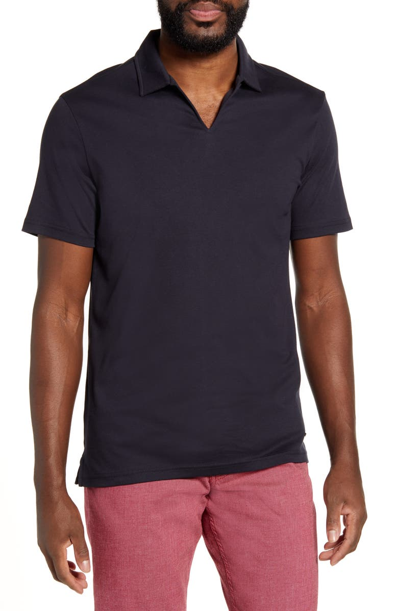 BRAX Paz Johnny Collar Polo, Main, color, NAVY
