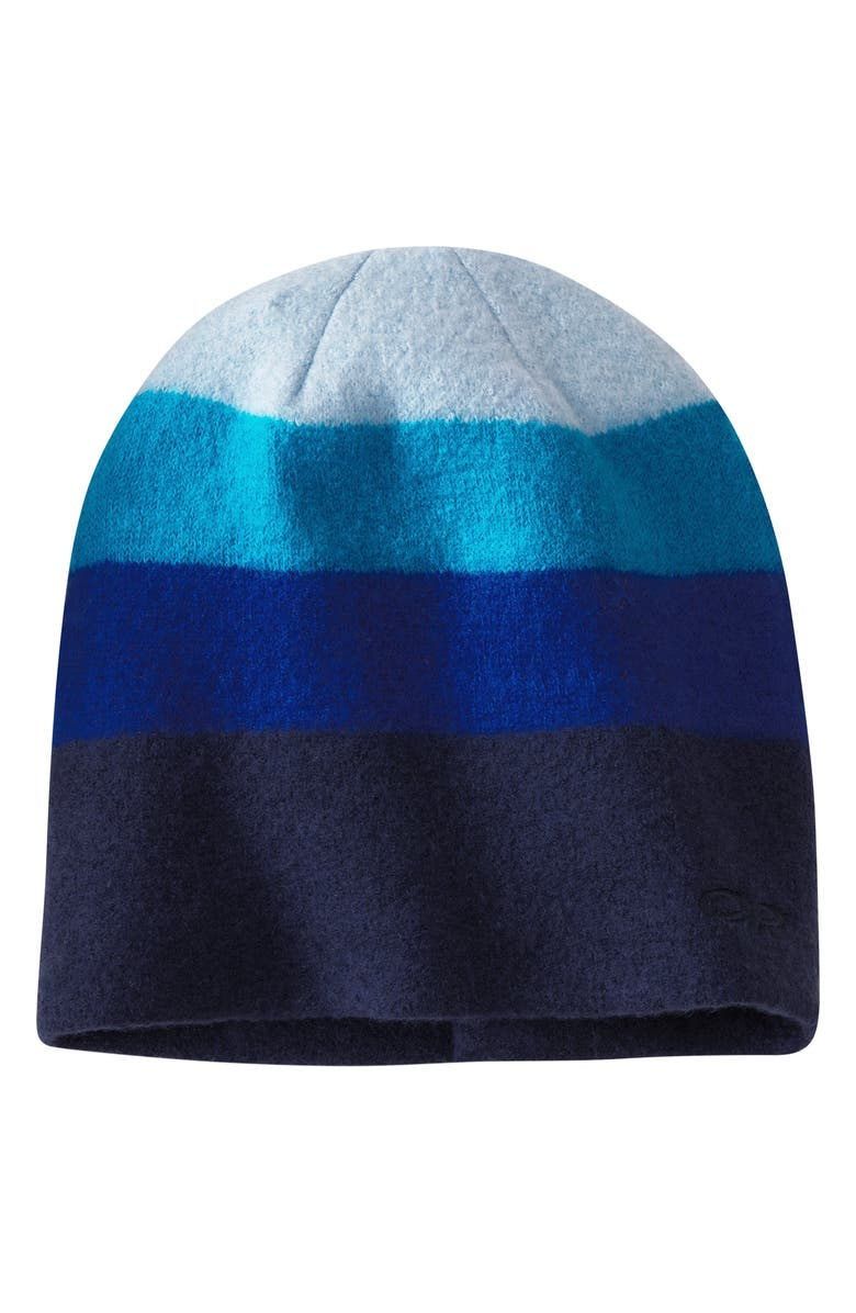 OUTDOOR RESEARCH Gradient Stripe Wool Beanie, Main, color, NIGHT