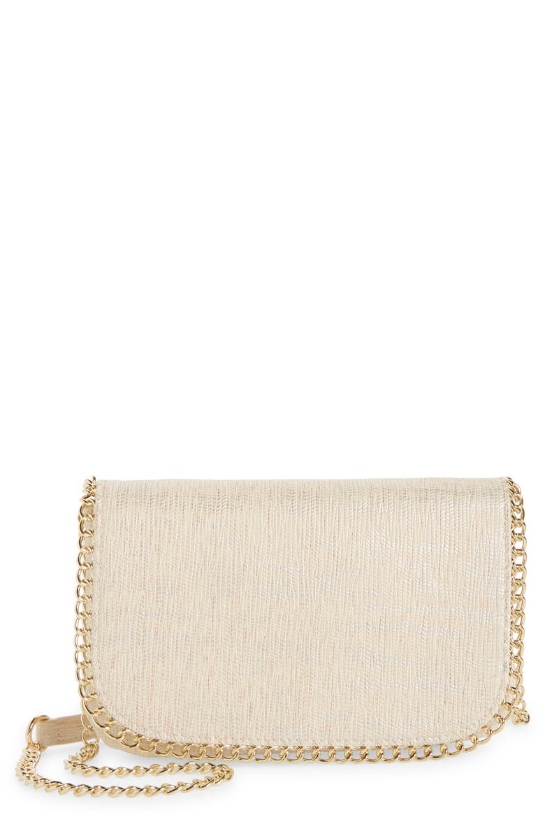 NORDSTROM Bianca Faux Leather Wallet on a Chain, Main, color, NO_COLOR