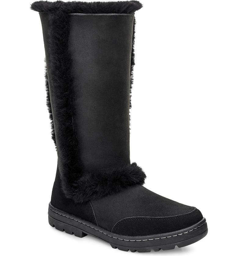 UGG<SUP>®</SUP> Sundance II Revival Tall Boot, Main, color, BLACK SUEDE