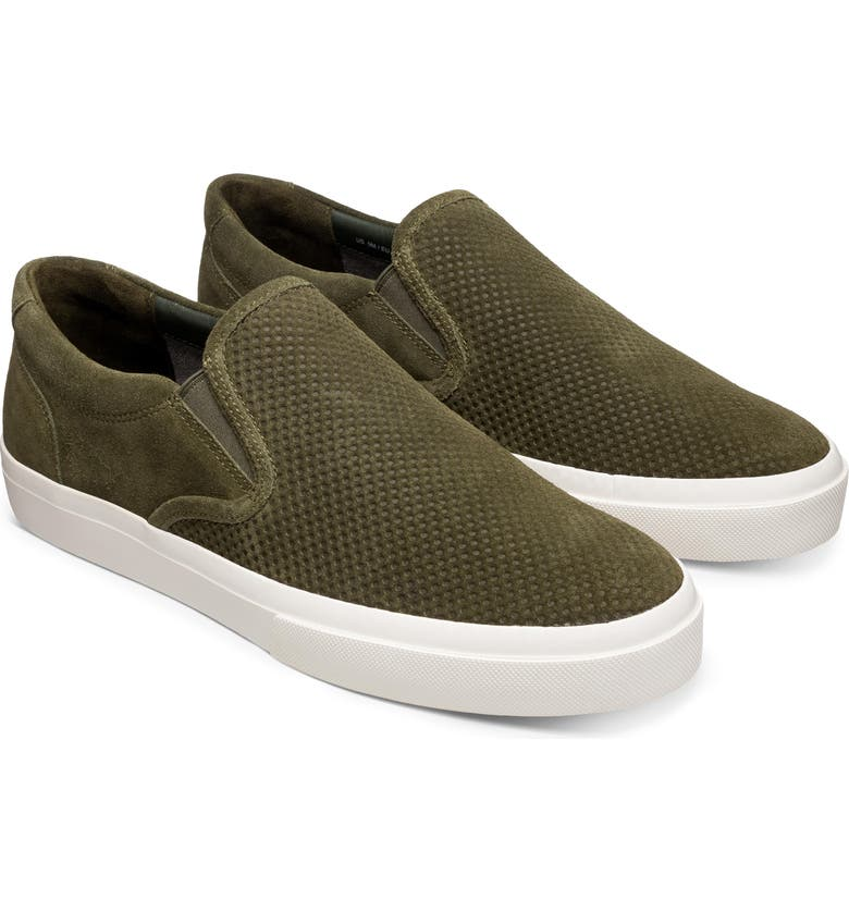 GREATS Wooster Slip-On Sneaker, Main, color, OLIVE SUEDE