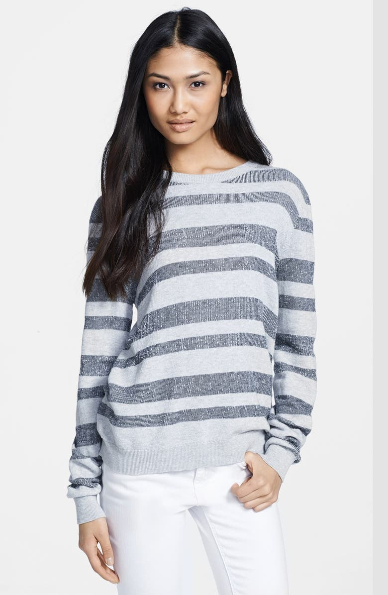 A.L.C. 'Cooper' Stripe Cotton Sweater, Main, color, 080