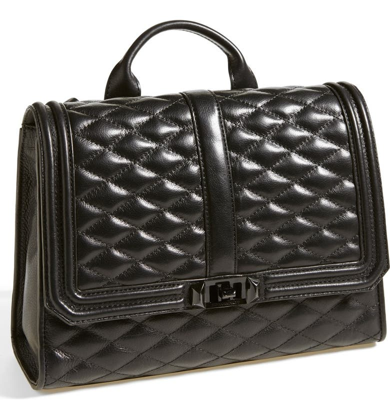 REBECCA MINKOFF 'Quilted Love' Backpack, Main, color, 001