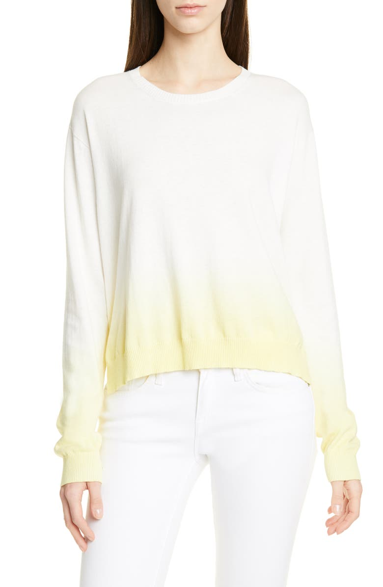 ATM ANTHONY THOMAS MELILLO Dip Dye Cotton Blend Sweater, Main, color, 700
