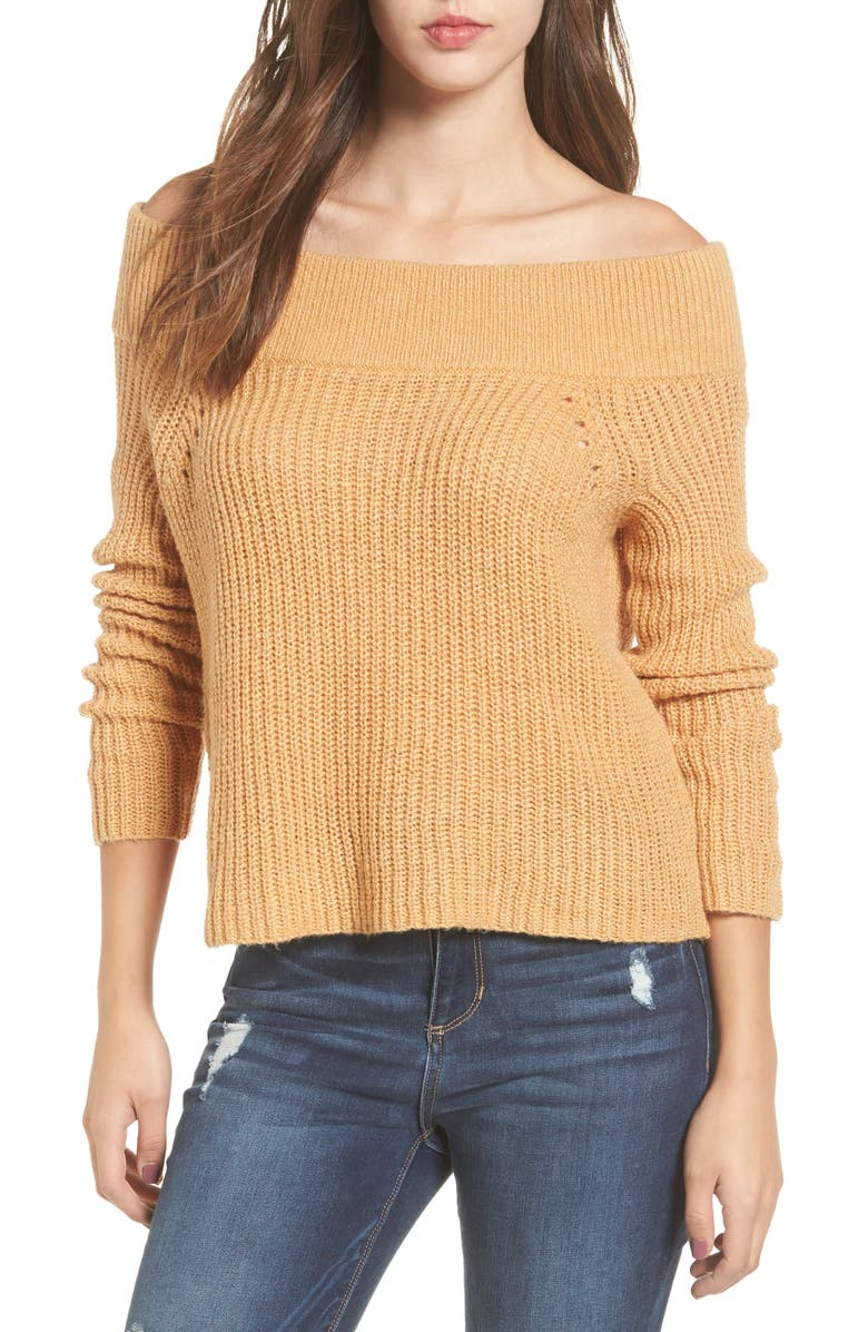 BP. Lofty Off the Shoulder Pullover, Main, color, 235