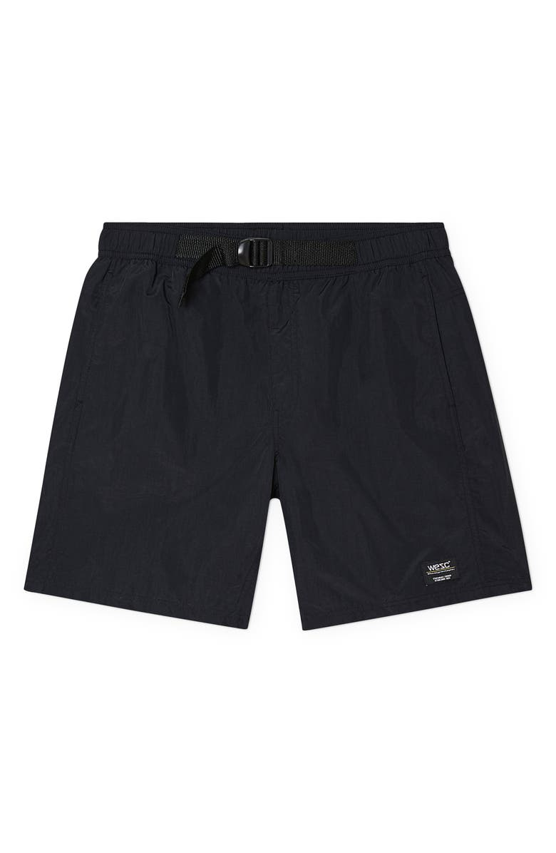 WESC Men's Hybrid Utility Shorts, Main, color, BLACK