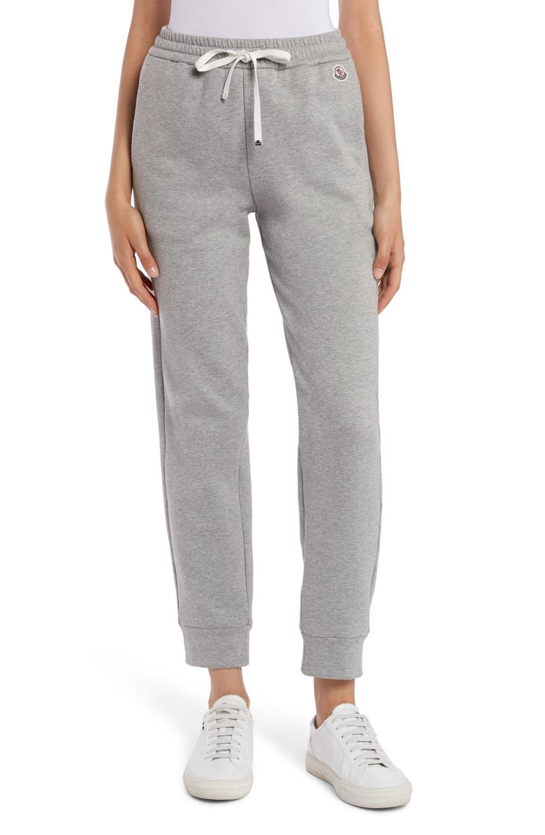 MONCLER French Terry Jogger Sweatpants, Main, color, GREY