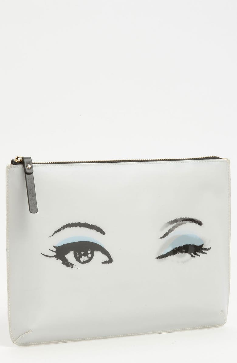 KATE SPADE NEW YORK 'georgie - all eyes' pouch, Main, color, 100