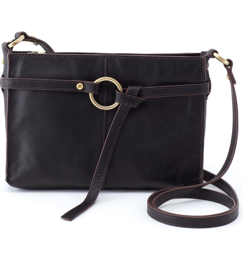 HOBO Libra Leather Crossbody Bag, Main, color, 001