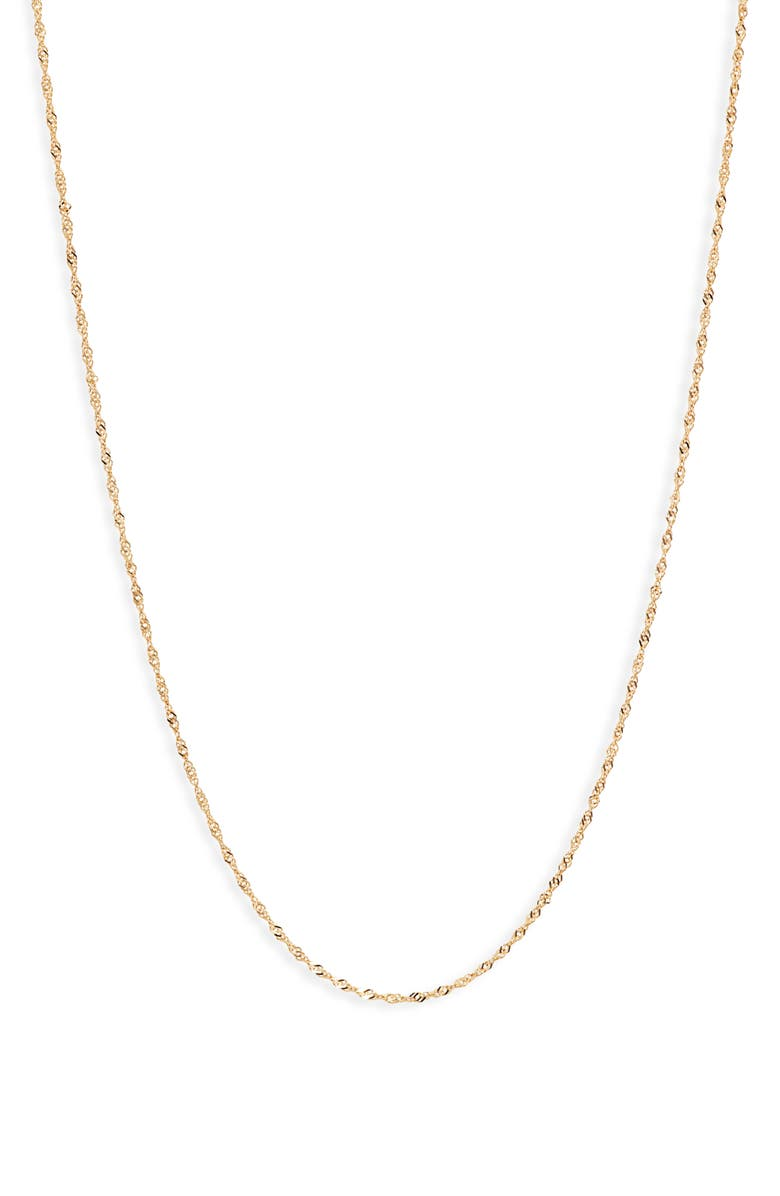 BONY LEVY 14K Gold Twisted Chain Necklace, Main, color, YELLOW GOLD