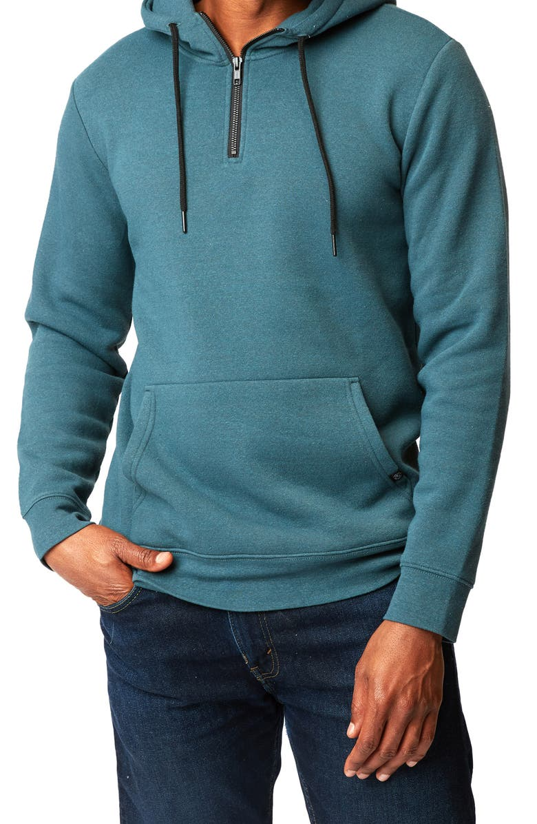 THREADS 4 THOUGHT Fleece Pullover Hoodie, Main, color, FJORD