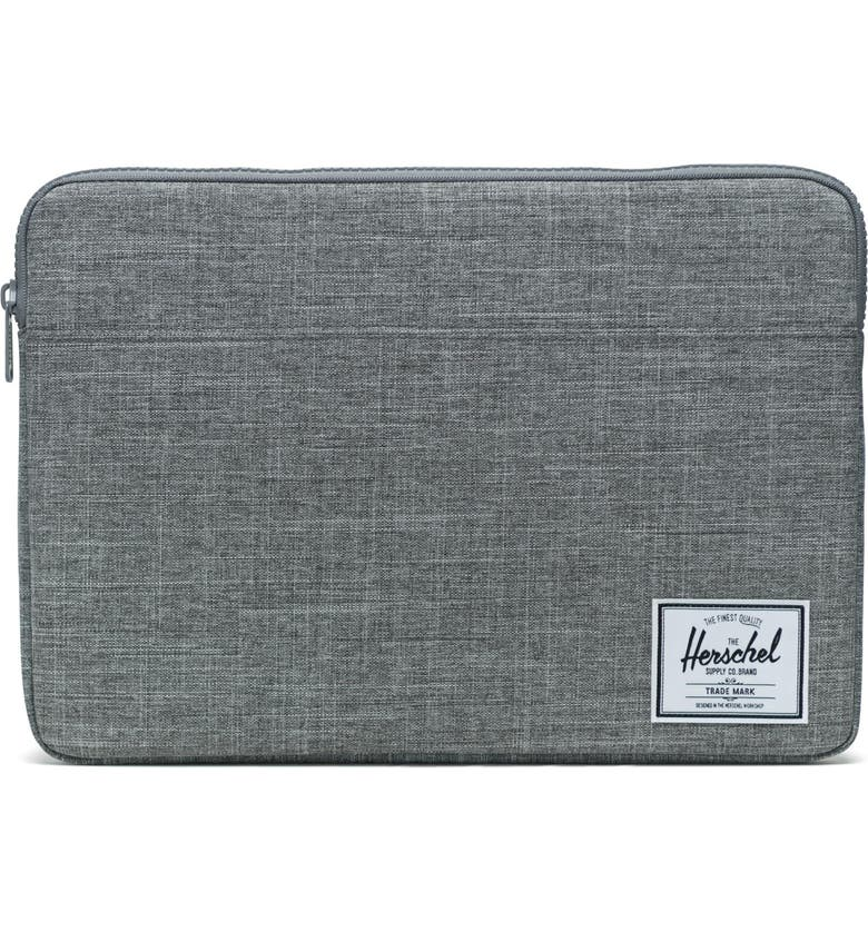 HERSCHEL SUPPLY CO. Anchor 15-Inch MacBook Sleeve, Main, color, RAVEN CROSSHATCH