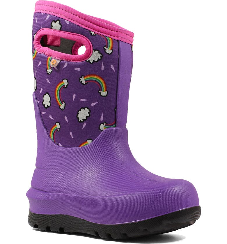 BOGS Neo-Classic Rainbows Insulated Waterproof Boot, Main, color, 546
