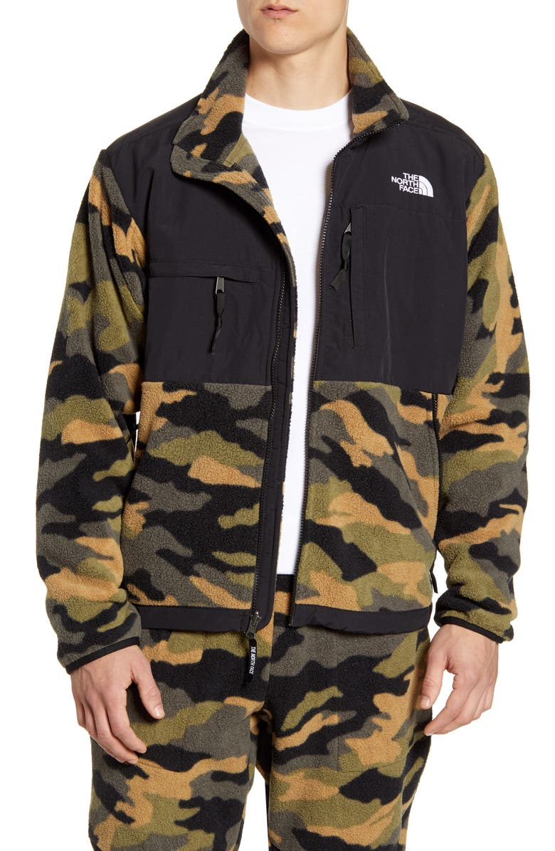 THE NORTH FACE 1995 Retro Denali Recycled Fleece Jacket, Main, color, BURNT OLIVE GREEN WOODS CAMO