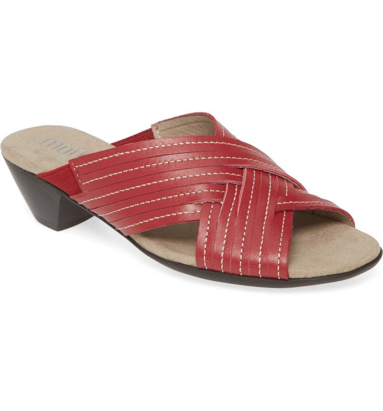 MUNRO Kelsey Sandal, Main, color, RED LEATHER