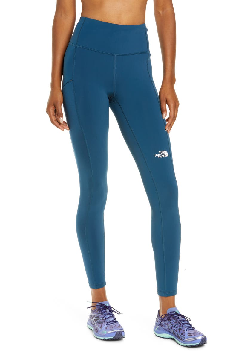 THE NORTH FACE Winter Warm High Waist Pocket Tights, Main, color, MONTEREY BLUE