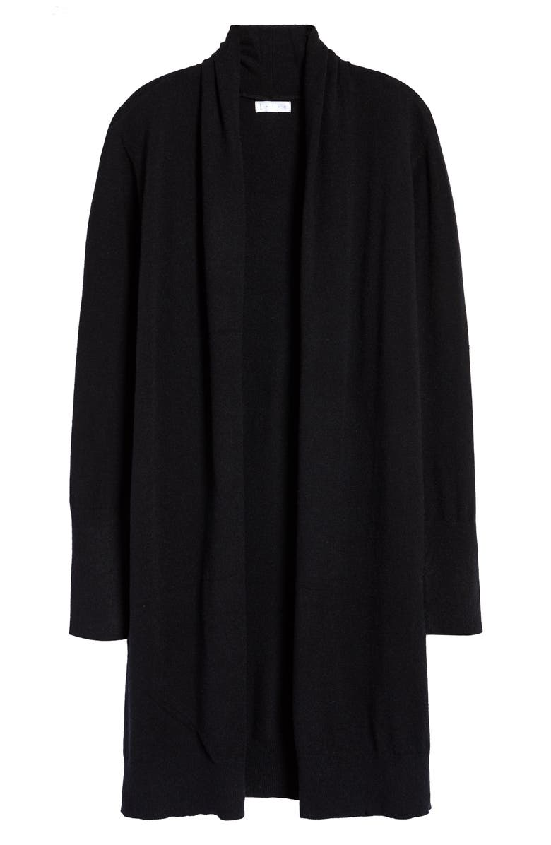 LEITH Cozy Long Cardigan, Main, color, BLACK