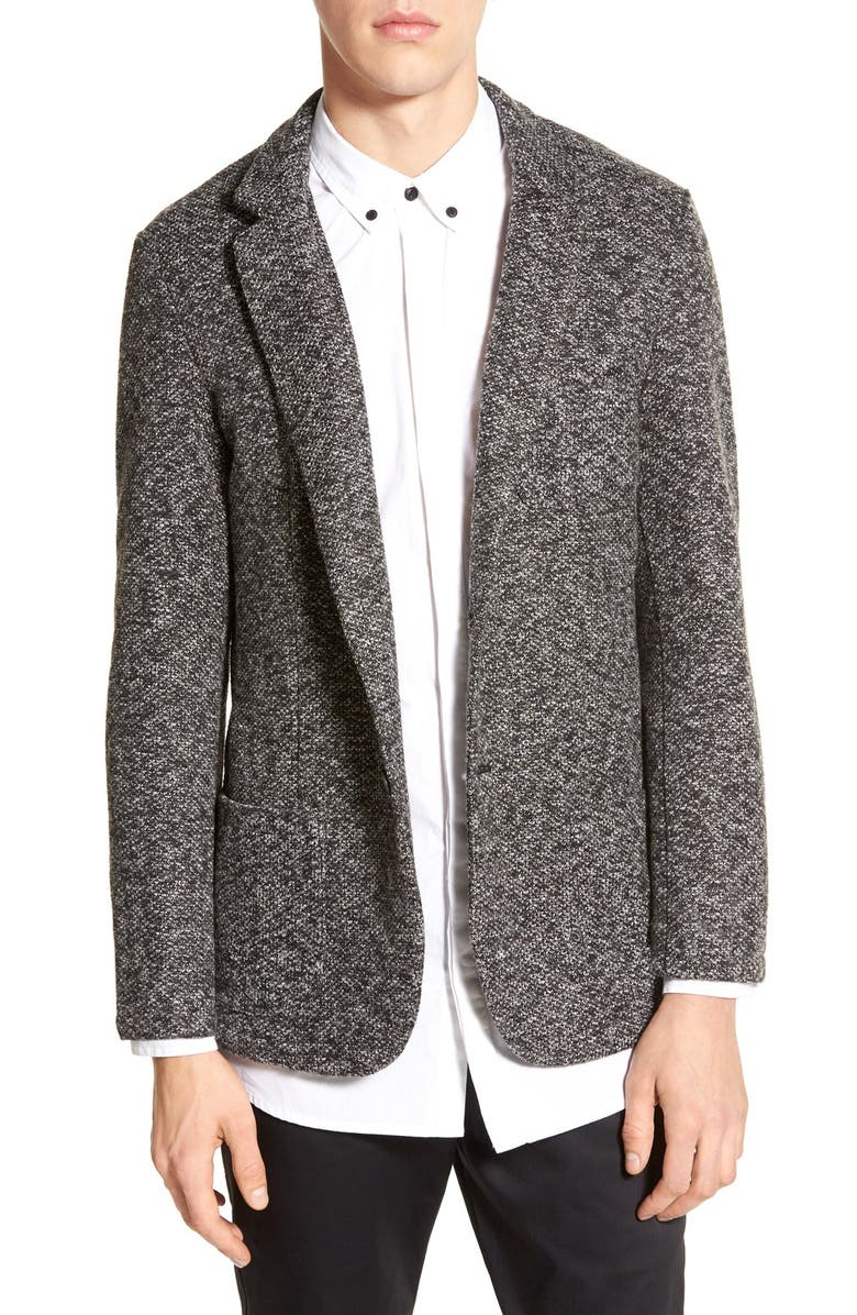 AZUL BY MOUSSY Tailored Tweed Sport Coat, Main, color, GREY