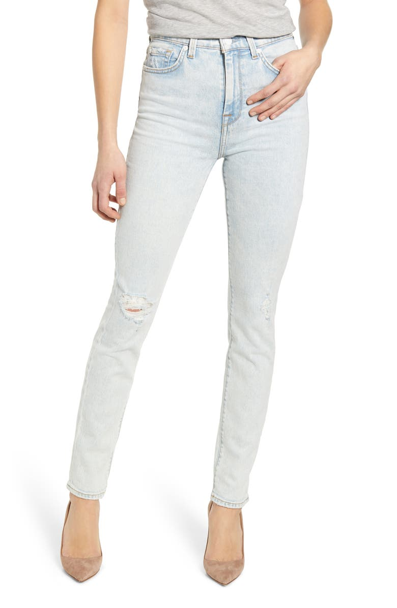 7 FOR ALL MANKIND <sup>®</sup> High Waist Skinny Jeans, Main, color, GRAND ST DESTROY