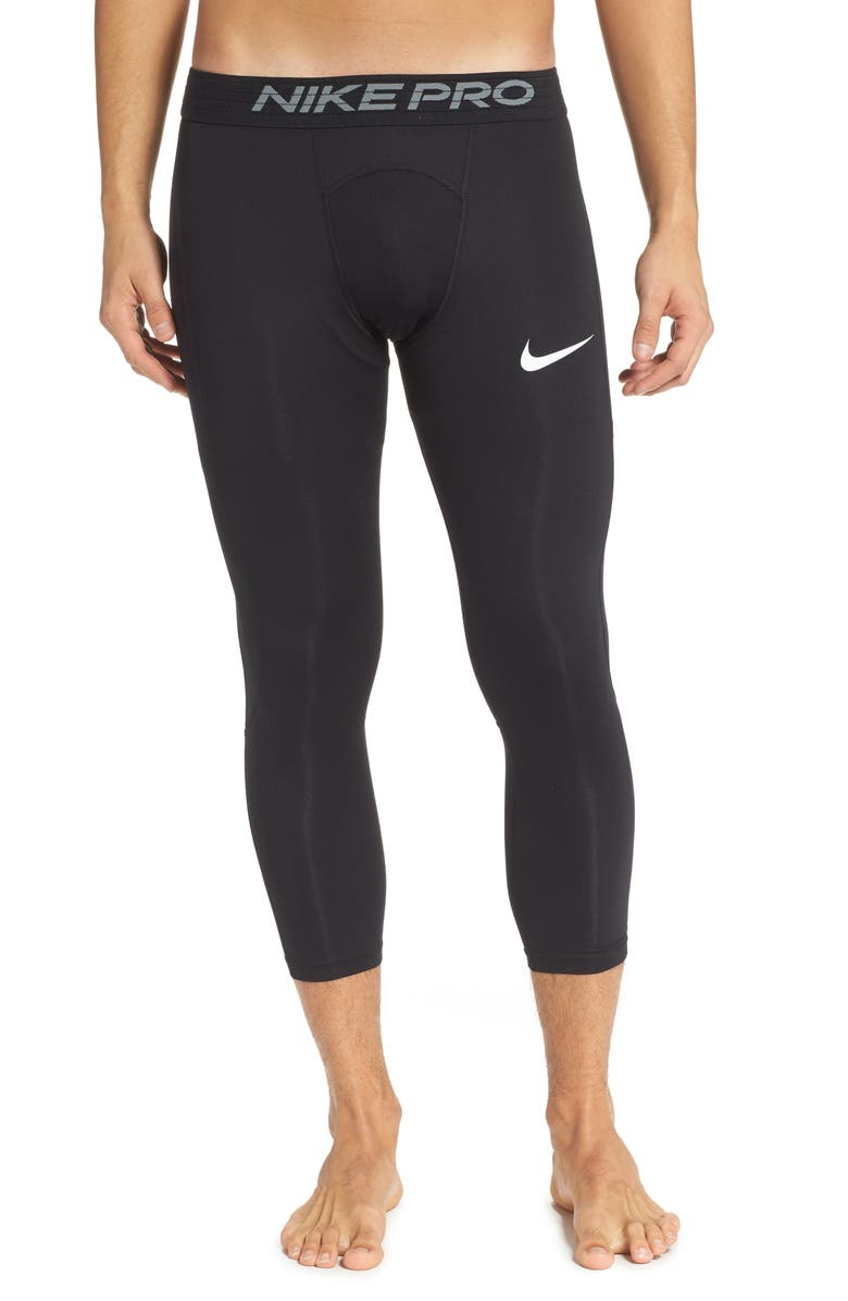 NIKE Pro Three-Quarter Training Tights, Main, color, 010
