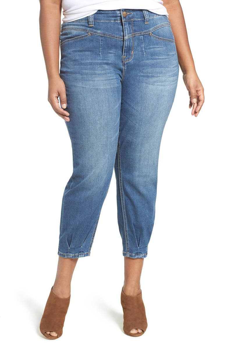 MELISSA MCCARTHY SEVEN7 High Rise Stretch Girlfriend Jeans, Main, color, 433