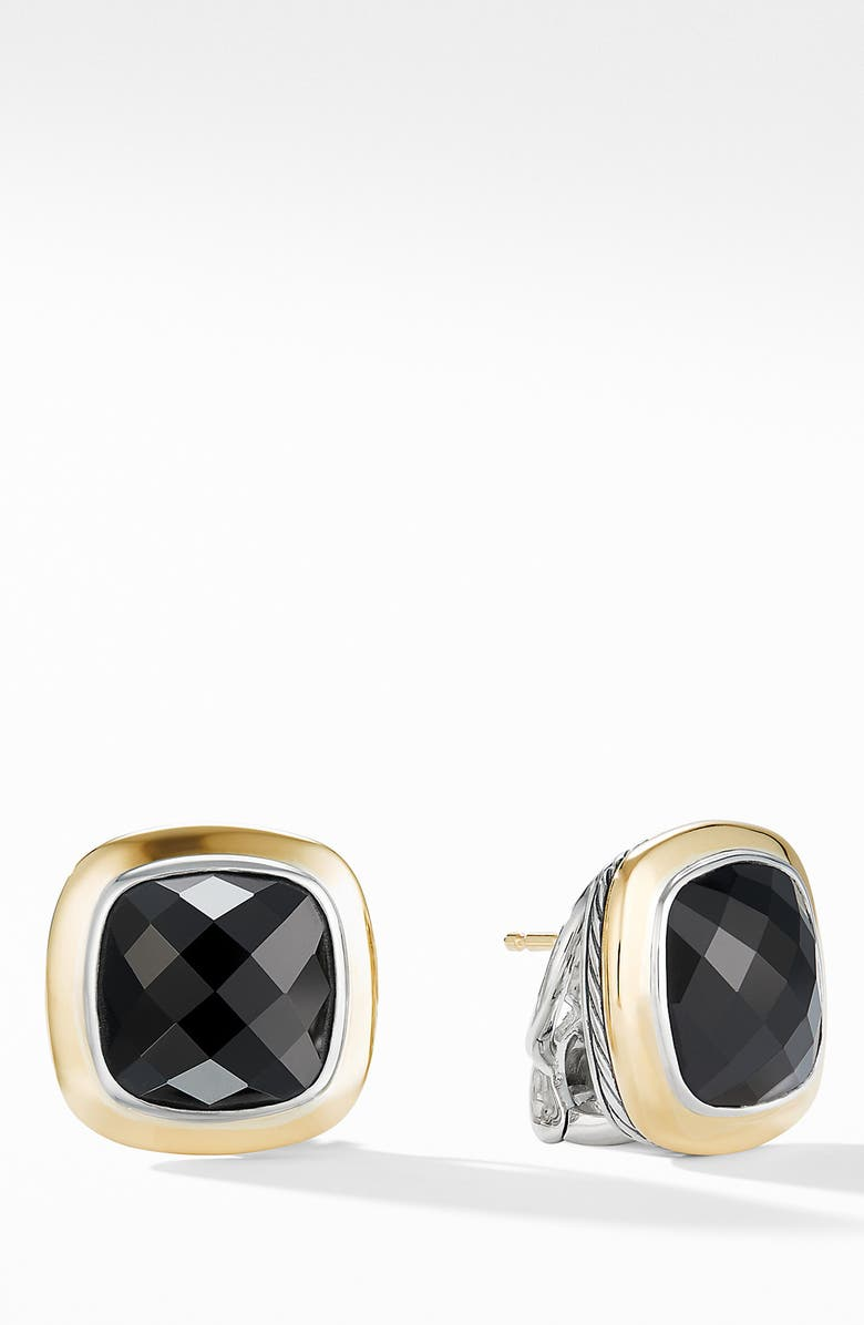 DAVID YURMAN Albion<sup>®</sup> Stud Earrings with 18K Gold, Main, color, BLACK ONYX