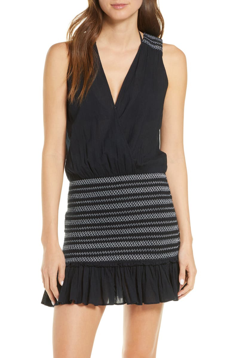 VERONICA BEARD Cox Dress Cover-Up, Main, color, 001