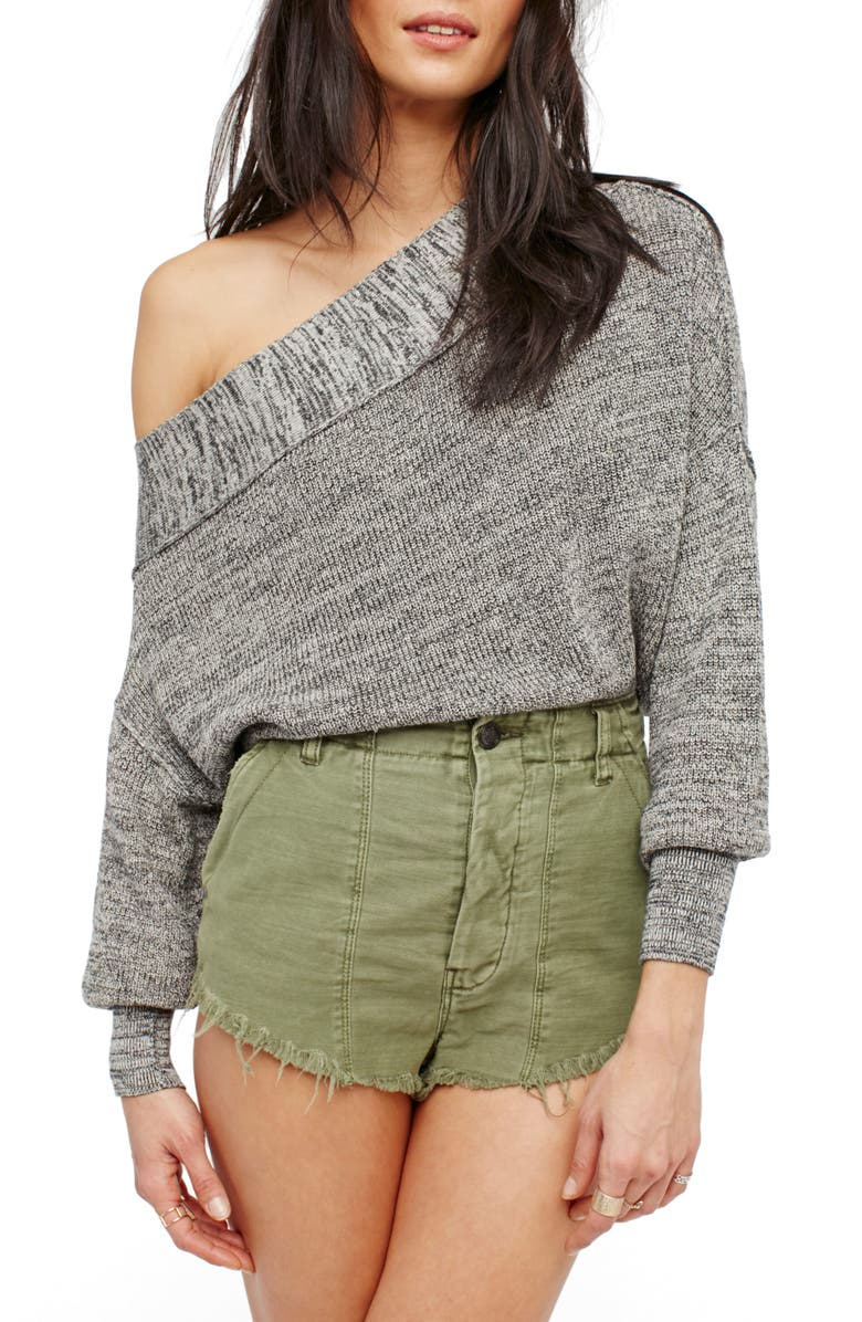FREE PEOPLE Alana Pullover Sweater, Main, color, GREY