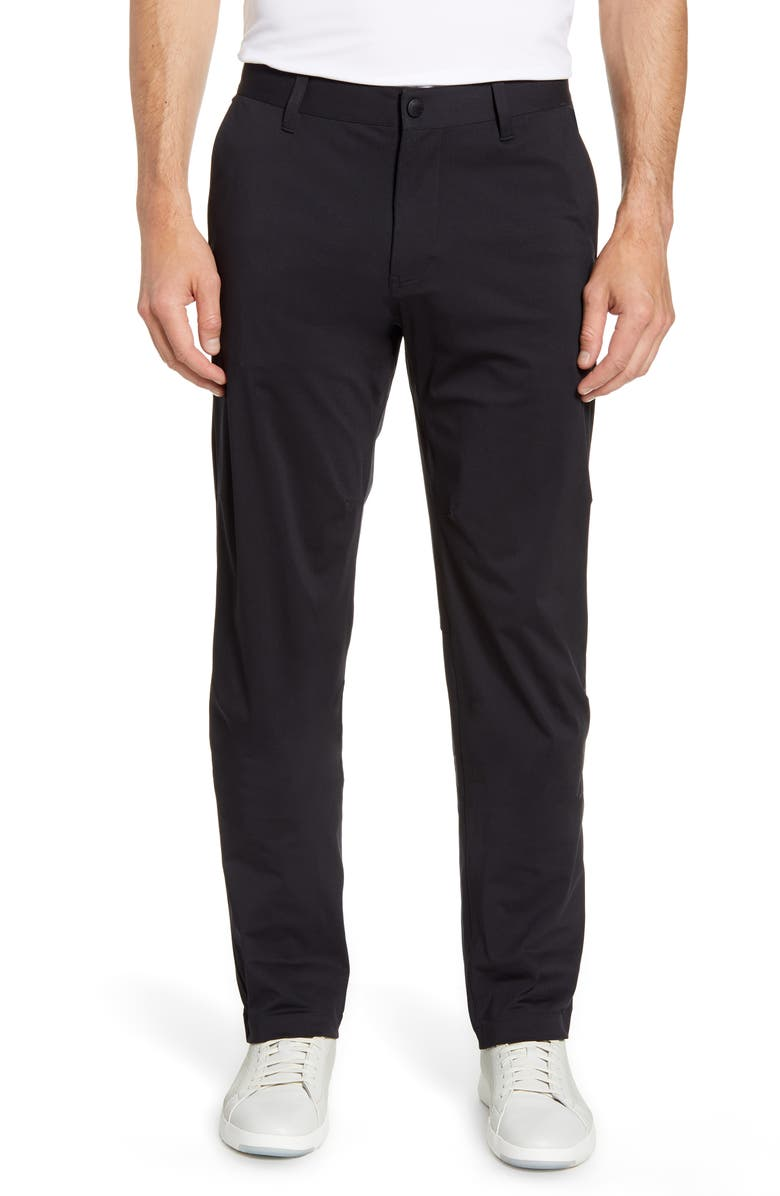 RHONE Commuter Straight Fit Pants, Main, color, BLACK