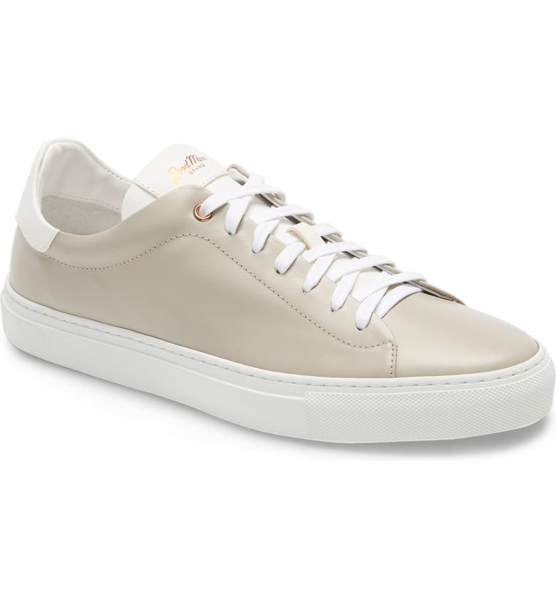 GOOD MAN BRAND Legend Low Top Sneaker, Main, color, SILVER/ WHITE LEATHER