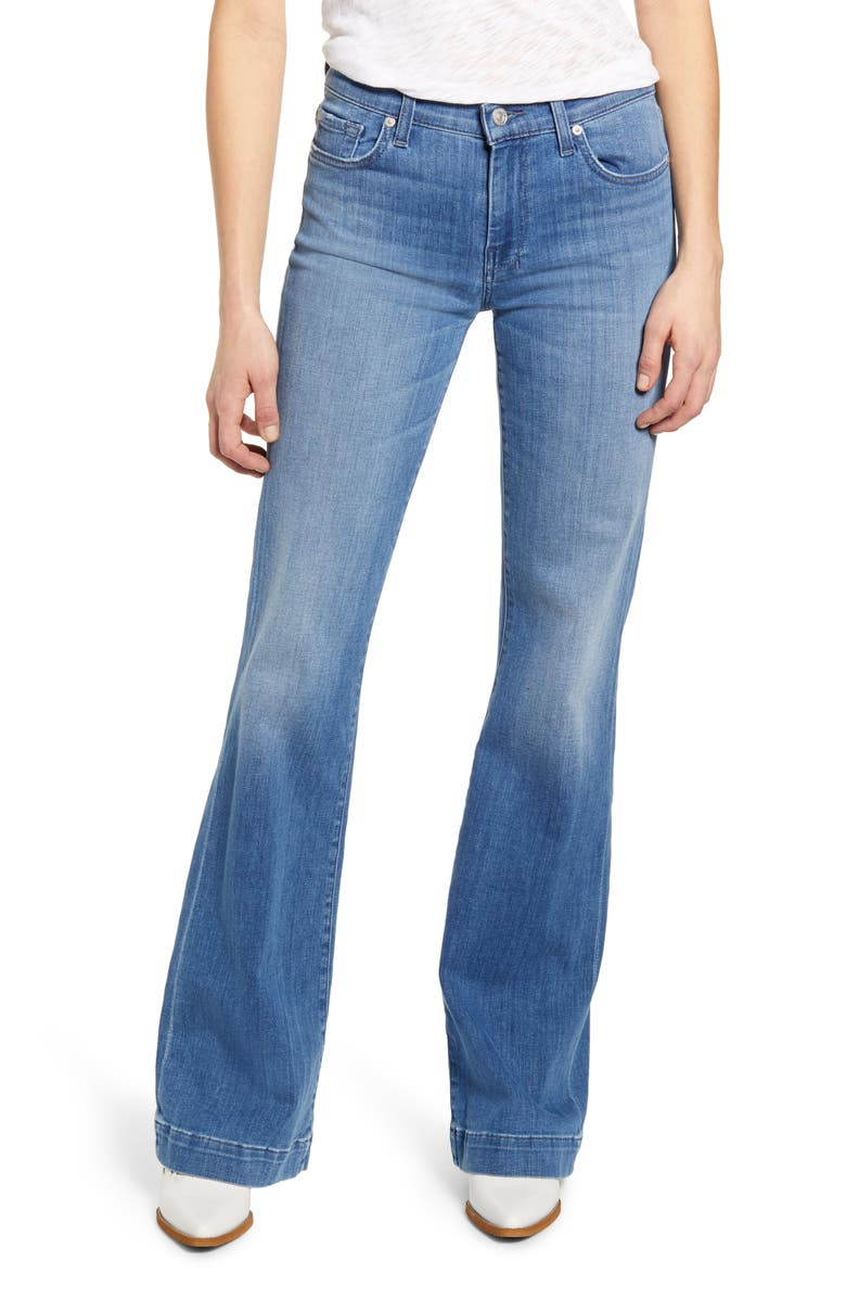 7 FOR ALL MANKIND<SUP>®</SUP> Dojo Wide Leg Jeans, Main, color, SHORELINE DRIVE